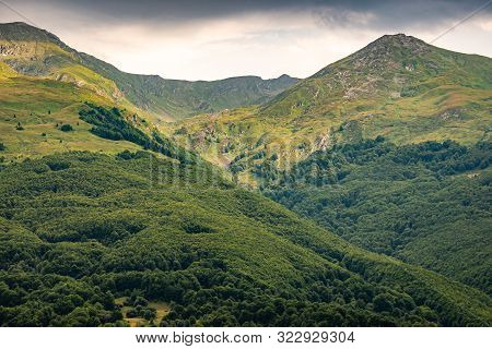 Green Brezovica Mountains In Summer, Kosovo, Europe