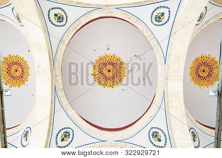 Prizren, Kosovo - July 29, 2019. Ceiling Of Sinan Pasha Mosque