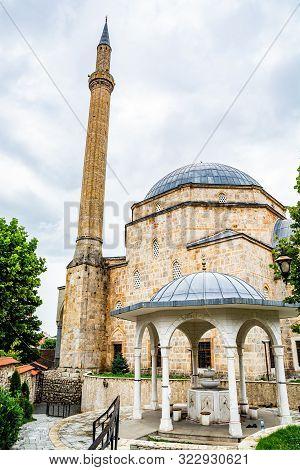 Sinan Pasha Mosque in Prizren, Kosovo, Europe poster