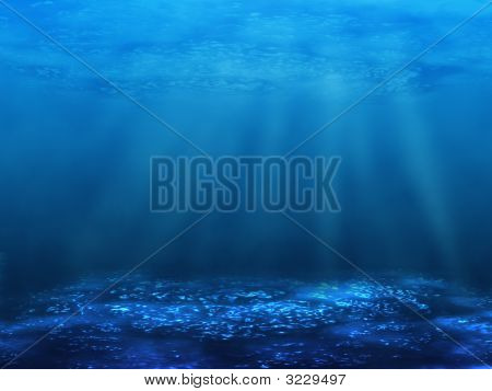 Unterwasser unten
