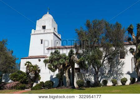 San Diego, California - April 1, 2017:  Junipero Serra Museum, Located In Presidio Park, A City Hist