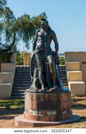 San Diego, California - April 1, 2017:  The Bronze Statue Titled