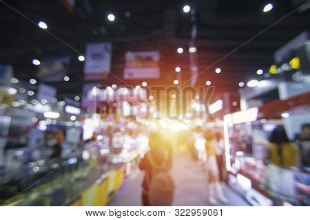 Abstract Blur Expo,large Room For The Event,hall,trade Show Expo Background,exhibition
