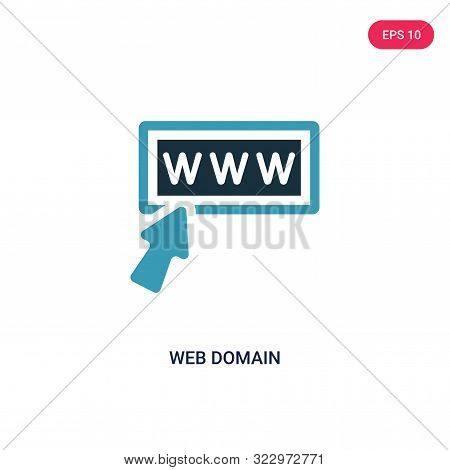 web domain icon in two color design style.