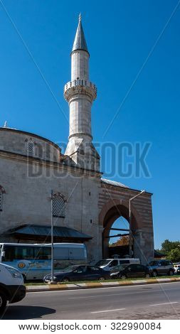 Edirne, Turkey - September 22, 2018:  Eski Camii Mosque In The Center Of City Of Edirne, East Thrace