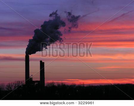 Power Plant Sunset