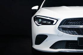 Frankfurt - Sep 15, 2019: White Mercedes-benz Cla 200 Shooting Brake At Iaa 2019 International Motor