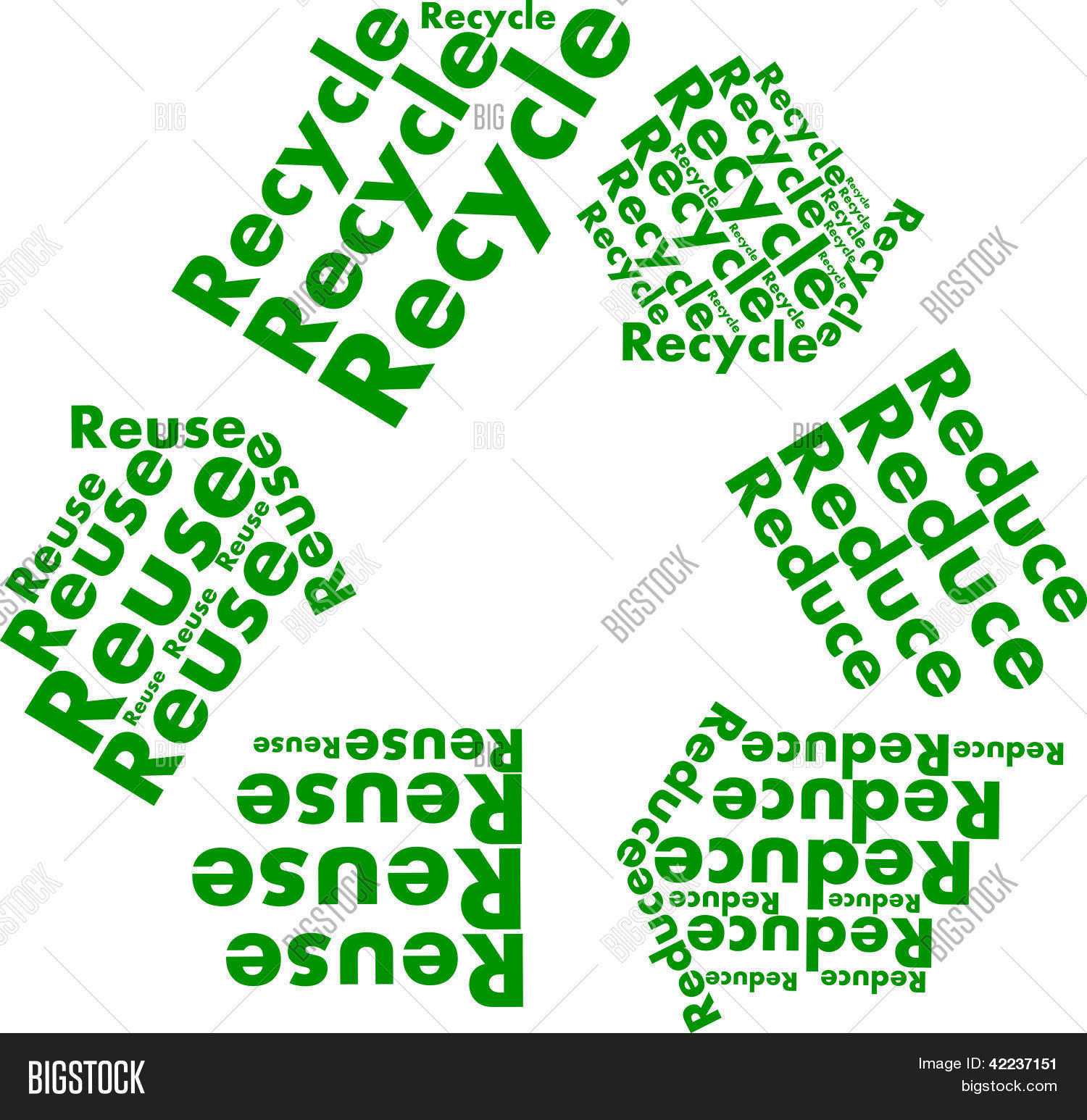 Reduce Reuse Recycle Vector Photo Free Trial Bigstock