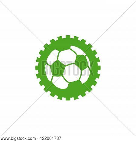 Soccer Gear Logo Designs Concept Vector, Football Gear Sport Logo Template