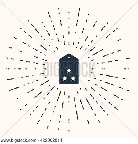 Grey Military Rank Icon Isolated On Beige Background. Military Badge Sign. Abstract Circle Random Do