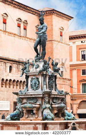 Fountain Of Neptune On Piazza Del Nettuno