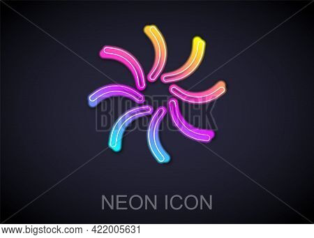 Glowing Neon Line Black Hole Icon Isolated On Black Background. Space Hole. Collapsar. Vector