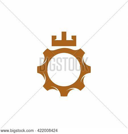 Gear Fortress Logo Designs Template Design Vector