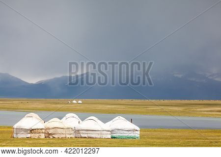 Nice Mountains In Kyrgyzstan Country