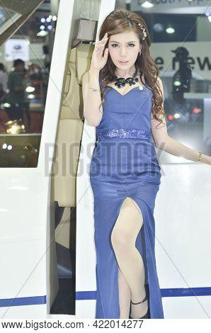 Bangkok-apil 2 Pretty At The35th Bangkok International Motor Show 2014 On Apil 2 2014 In Bangkok, Th