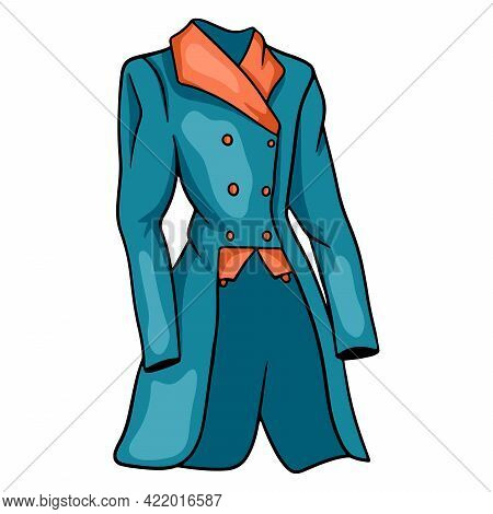 Outfit Rider Clothing For Jockey Jacket Illustration In Cartoon Style