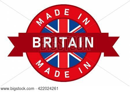 Made In Britain Uk United Kingdom England Label Stamp For Product Manufactured By Company Seal Golde