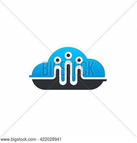 Cloud Group Logo Designs Concept Vector, Cloud Community Logo
