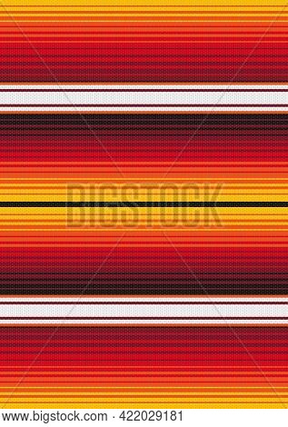 Colorful Stripes Background. Mexican Style Vector Seamless Pattern. Serape Design. Ethnic Boho Fabri