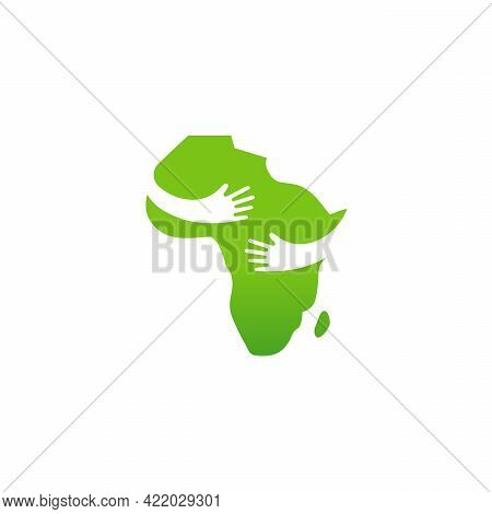 Abstract Care African Map Logo Template Design