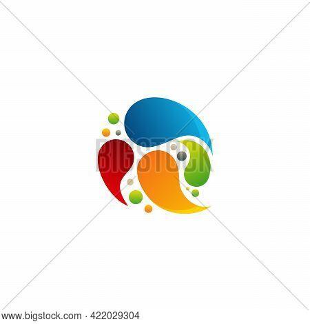 Colorful Ball Logo Symbol, Paint Ball Logo Designs Concept Vector