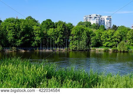 Landscape With Old Green Trees Near Herastrau Lake And Large Green Trees In King Michael I Park (for