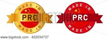Made In Prc People S Republic Of China Label Stamp For Product Manufactured By Chinese Company Seal