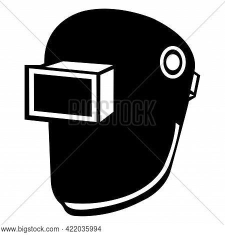 Symbol Wear Welding Helmet Isolate On White Background