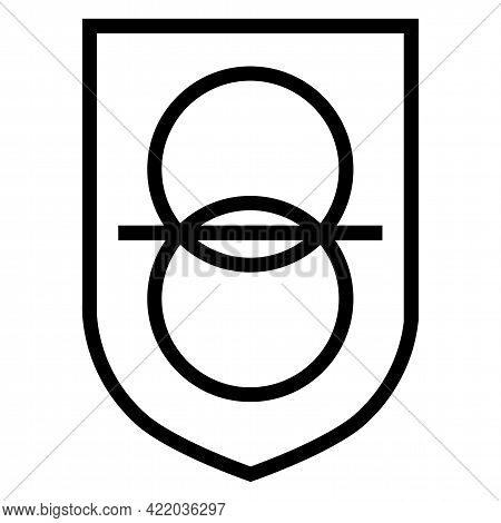 Safety Isolating Transformer Battery Symbol Sign Icon