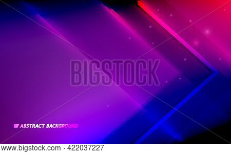 Abstract Colorful Geometric Triangle Background. Futuristic Technology Digital Hi-tech Concept. Vect