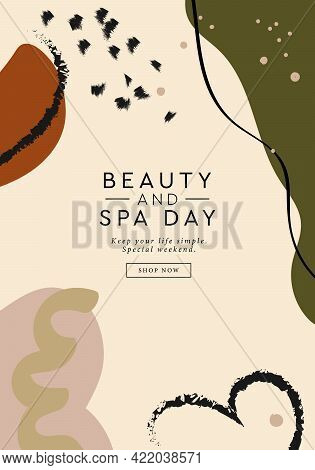 Beauty And Spa Day Banner. Abstract Contemporary Modern Trendy Banner Template. Can Used For Web Des