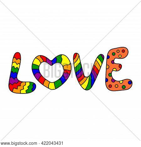 Lgbt Pride Month. Love Concept, Lgbt Pride Month Poster Card Design. Human Rights And Tolerance. Vec