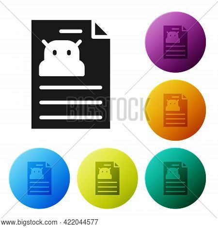 Black Technical Specification Icon Isolated On White Background. Technical Support Check List, Team