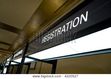 Signo de cabina de registro