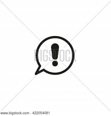 Exclamation Mark Icon. An Exclamation Mark In The Speech Bubble. Warning. Simple Vector Illustration
