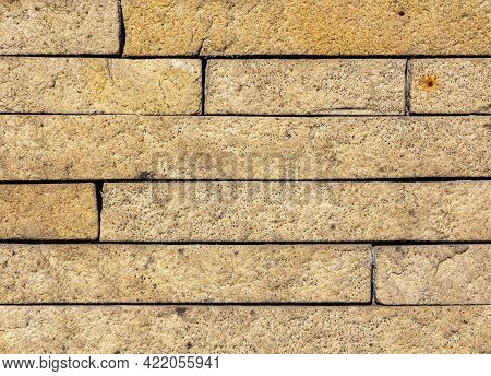 Stonework Of The Fence. A Stone Wall. A Clutch Of Stone.