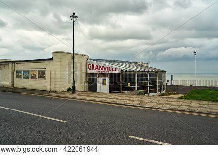 Ramsgate, United Kingdom - May 22, 2021: The Granville Theatre And Cinema In Ramsgate  Currently Clo
