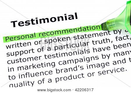Testimonial Definition