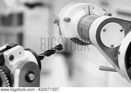 Drilling Machine Workpiece, Industrial Manufacturing Engineering Concept