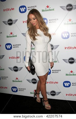 LOS ANGELES - FEB 10:  Lauren Pope arrives at the Warner Music Group post Grammy party at the Chateau Marmont  on February 10, 2013 in Los Angeles, CA..