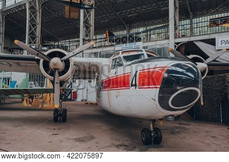 Brussels, Belgium - August 17, 2019: Percival P.66 Pembroke C.51 Rm-4 In The Royal Museum Of The Arm