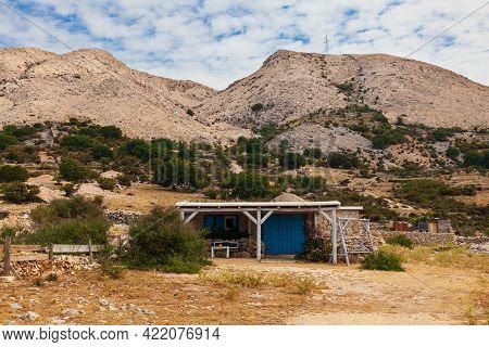 House In The Stara Baska Countryside, Krk Island. Croatia