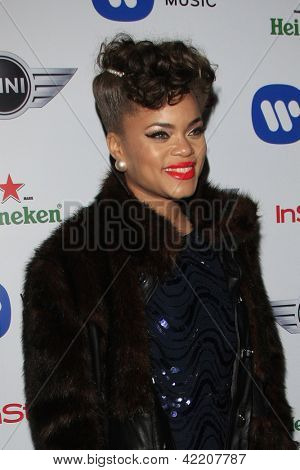 LOS ANGELES - FEB 10:  Audra Day arrives at the Warner Music Group post Grammy party at the Chateau Marmont  on February 10, 2013 in Los Angeles, CA..