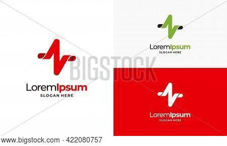 Simple Pulse Logo Template, Simple Healthcare Logo Template, Health Center Logo Designs Vector Illus