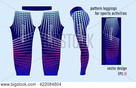 Pattern Leggings Sport For Gym Mold Ready To Use