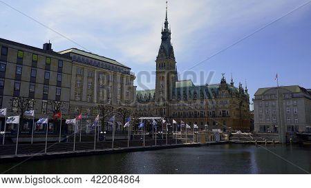 City Center Of Hamburg With City Hall - Hamburg, Germany - May 10, 2021