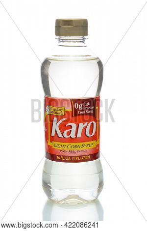 IRVINE, CA - JANUARY 4, 2018: Karo Light Corn Syrup. Karo is a natural sweetener for use in baked goods, sauces, and recipes.