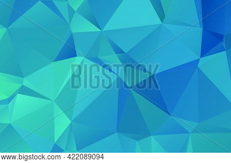 Blue Vivid Polygonal Mosaic Background, Creative Design Templates Illustration