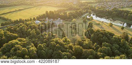 Swindon, Uk - August 30, 2019: Areial View Of Lydiard House, Lydiard Park Swindon, Wiltshire, Uk