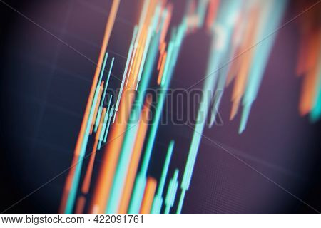 Stock Market Data.abstract Background With Graph Chart Finance. Stock Market And Exchange. Business